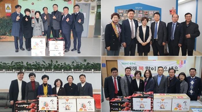 [포토뉴스] 천안시의회, 설 명절맞아 소외계층 찾아 나서