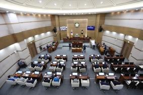 """원구성 마무리된 천안시의회 후반기 의장단 목소리…""""천안시민을 위한 의회 만들 것"""""""