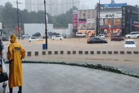 천안 도로 곳곳 침수 피해 잇따라...150여 명 대피