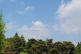 [포토] 천안삼거리공원 상공에 나타난 '블랙이글스'